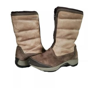Merrell boots Encore Divine tan olive Woman sz 8.5